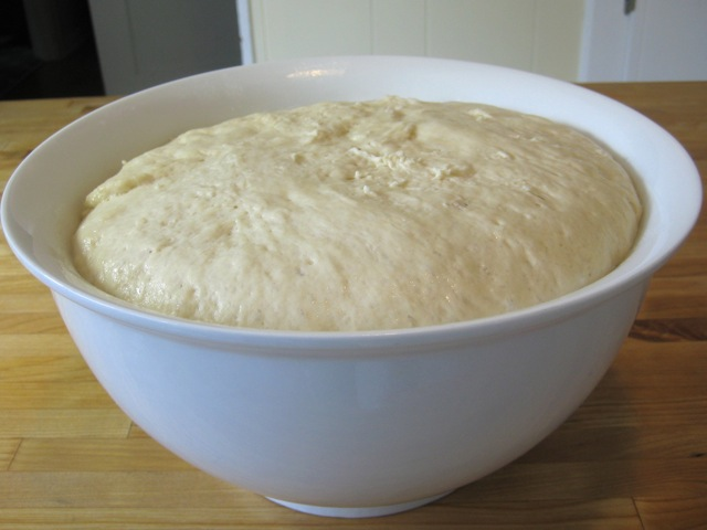 Dough after 1st rising